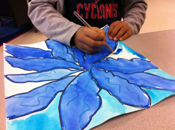 O Keeffe Flowers Get Kids To Draw Big Free Lesson Plan Download