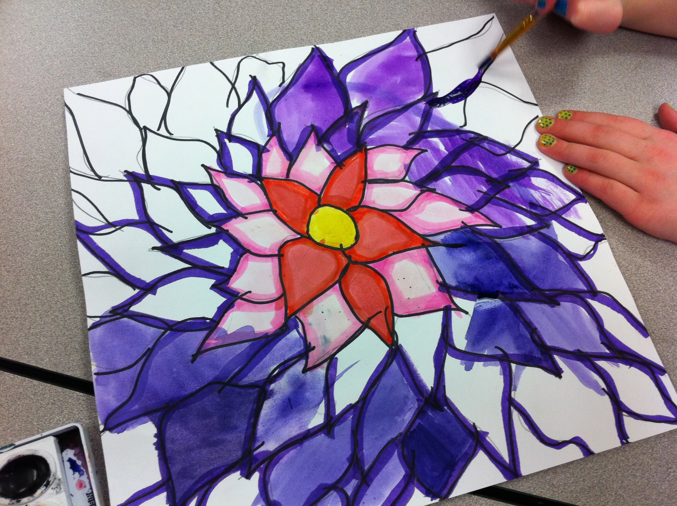 Art Lessons : O keeffe flowers get kids to draw big free lesson plan