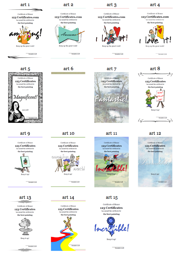 Free Printable Certificates The Art Of Ed