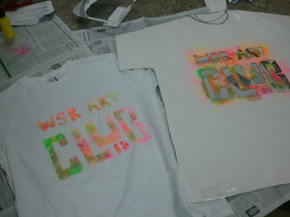 how to make stenciled t shirts the art of ed. Black Bedroom Furniture Sets. Home Design Ideas