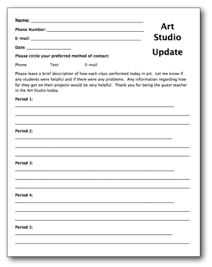 Notes to teacher substitutes just b cause for Dcps lesson plan template
