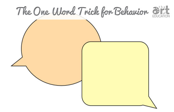 One-Word-to-Correct-Student-Behavior