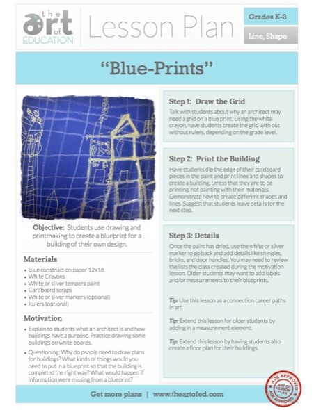 Lesson plan building blue prints the art of ed blue prints malvernweather Image collections