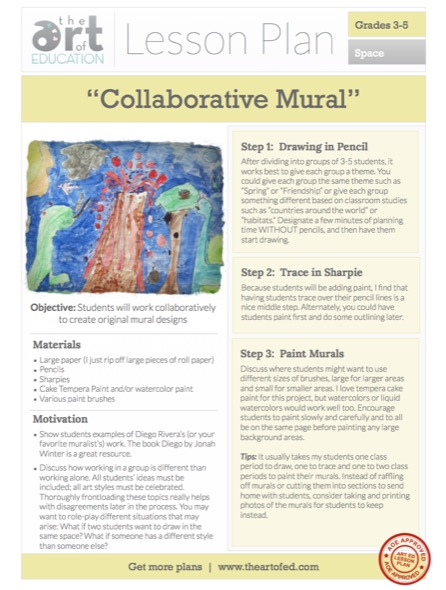 Collaborative Teaching Lesson Plans ~ Lesson plan collaborative murals the art of ed