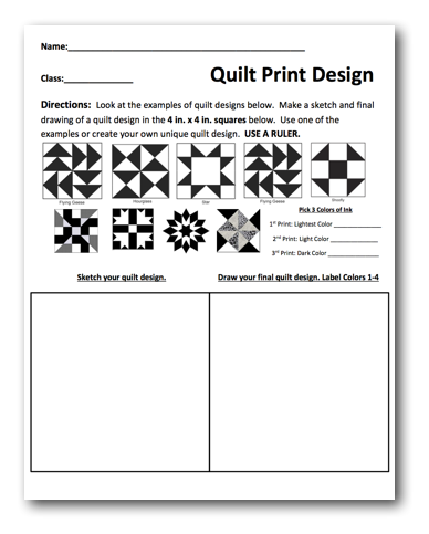 Quilt Prints Free Lesson Plan Download The Art Of Ed