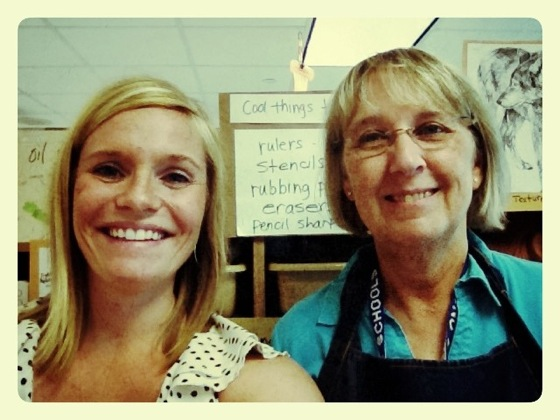 Mary Holmgren and I in her elementary T.A.B. classroom.