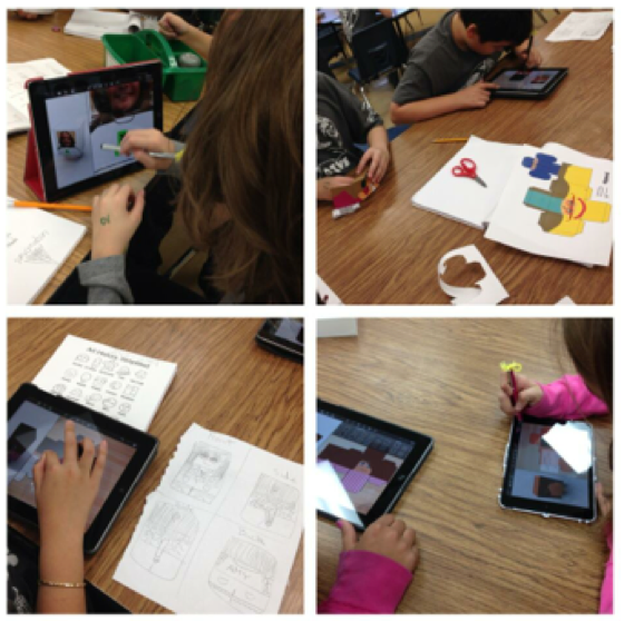 Students working with the Foldify App