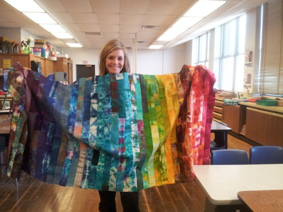 fabric dyeing quilt