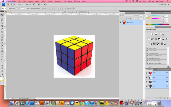 how to take layer out of canvas photoshop