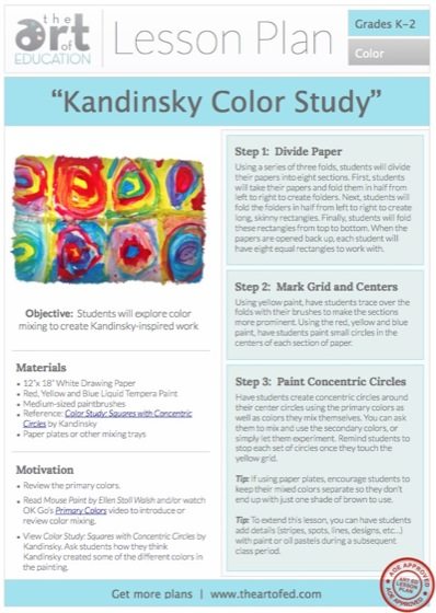 Kandinsky Color Study: Free Lesson Plan Download - The Art of Ed