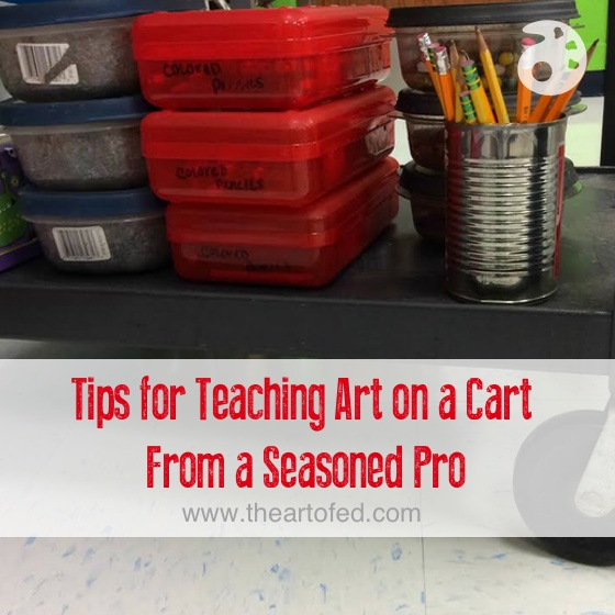 Tips for Teaching Art on a Cart