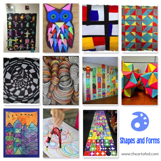 Shape And Form In Art : Lessons that explore the beautiful pairing of math and