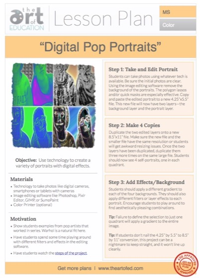 """lesson plan pop art I found """"pop art powerpoint"""" lesson plan at share my lesson there are so many more free, quality lessons on the site, so head on over."""