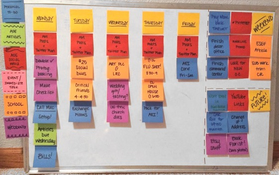 Calendar Organization System : How to use simple sticky notes organize your entire