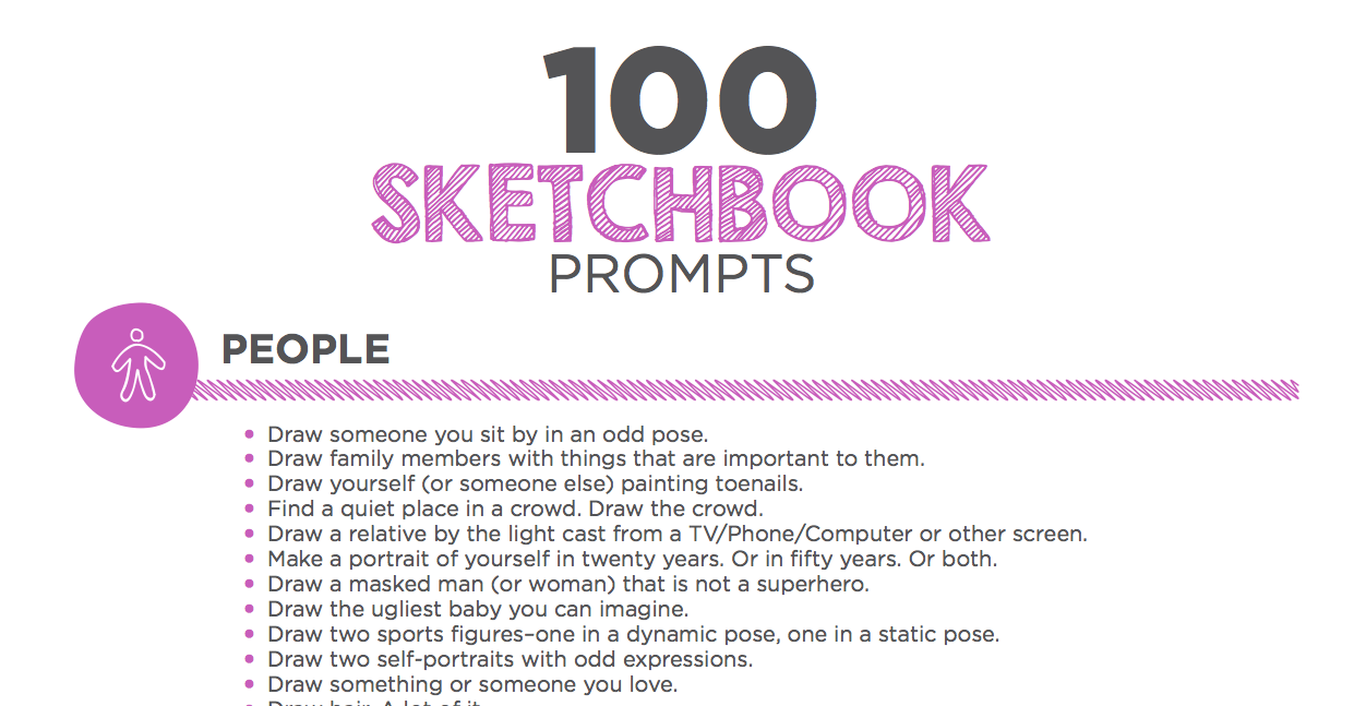 100 Sketchbook Prompts Your Students Will Love - The Art of