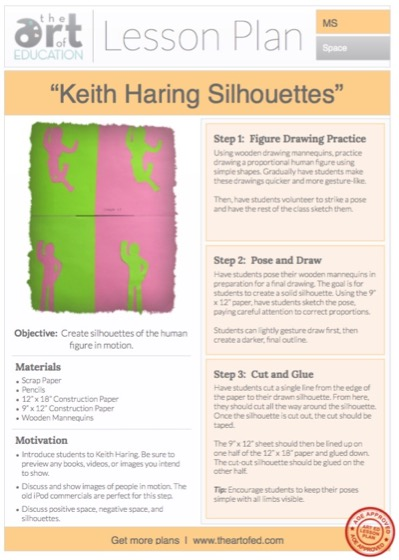Keith Haring Silhouettes: Free Lesson Plan Download - The