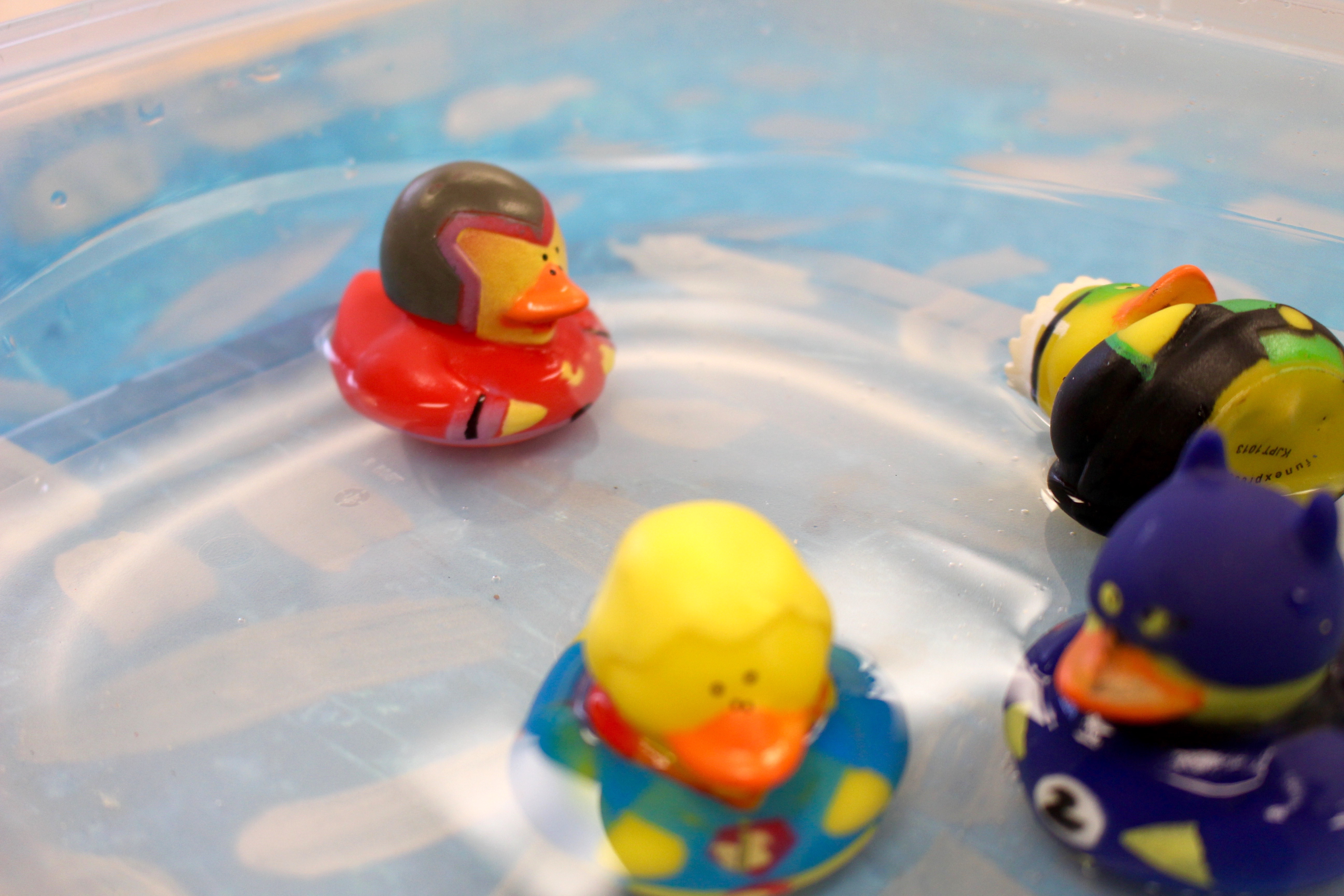 rubber ducks in costumes