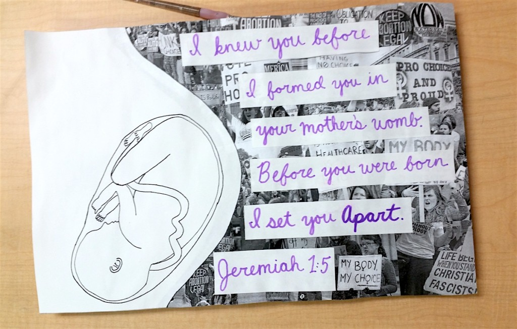 student artwork about abortion