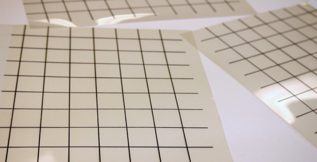 grid on transparency paper