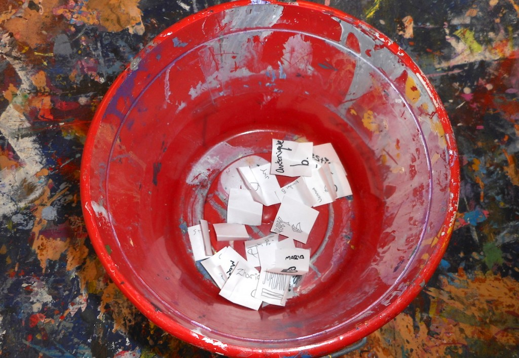 names in a bucket