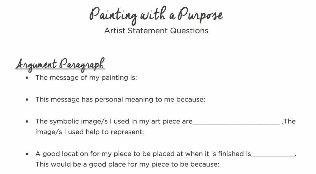 The 7 Key Components Of Powerful Artist Statements The Art Of Ed