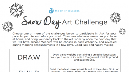 The Snow Day Art Challenge