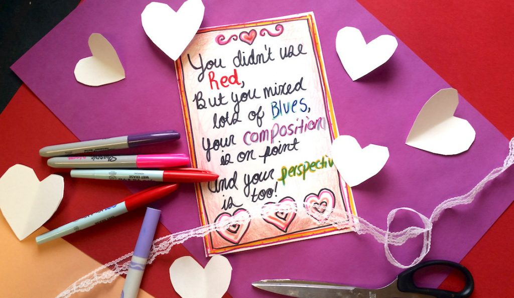 A Valentines Critique Game Your Students Will Love The Art of Ed – Valentine Cards for Students
