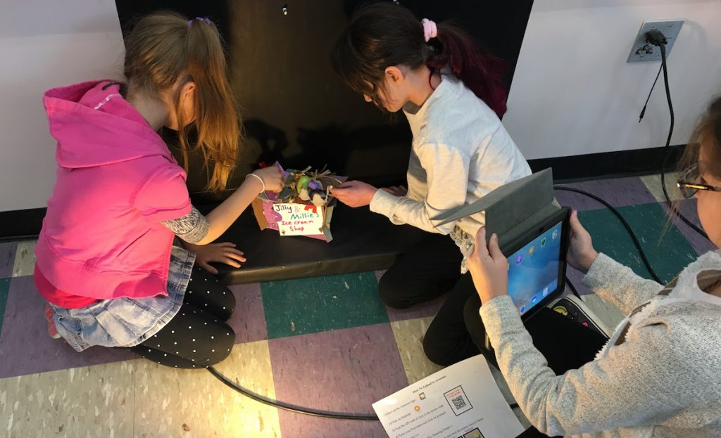 students doing stop-motion