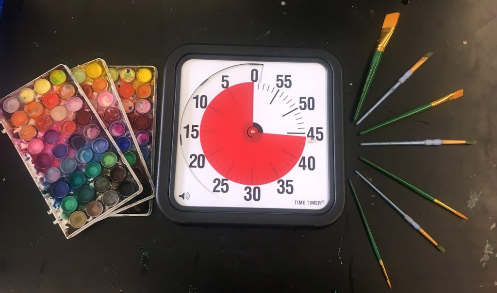timer with supplies