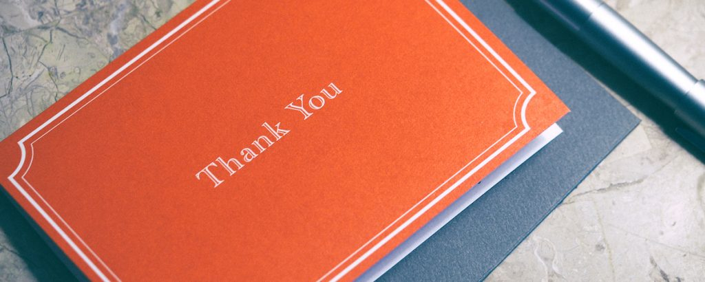 thesis thank you note
