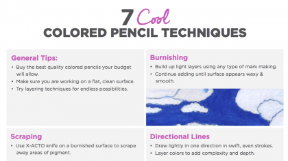 7 Cool Colored Pencil Techniques to Teach Your Students
