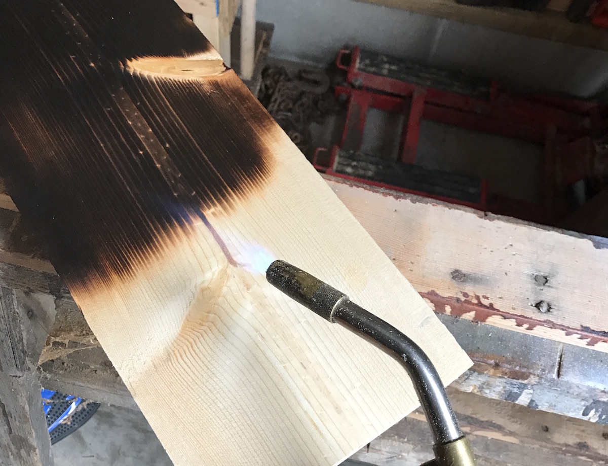 torching the wood