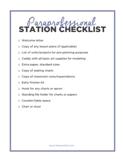 https://www.theartofed.com/content/uploads/2017/05/Paraprofessional-Station-Checklist-1-1.pdf