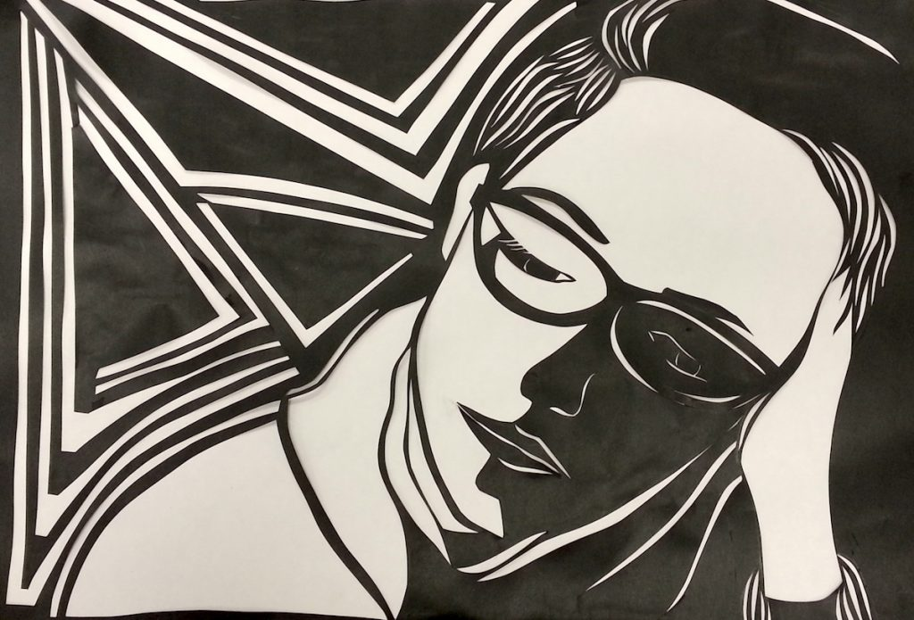 cut paper portrait
