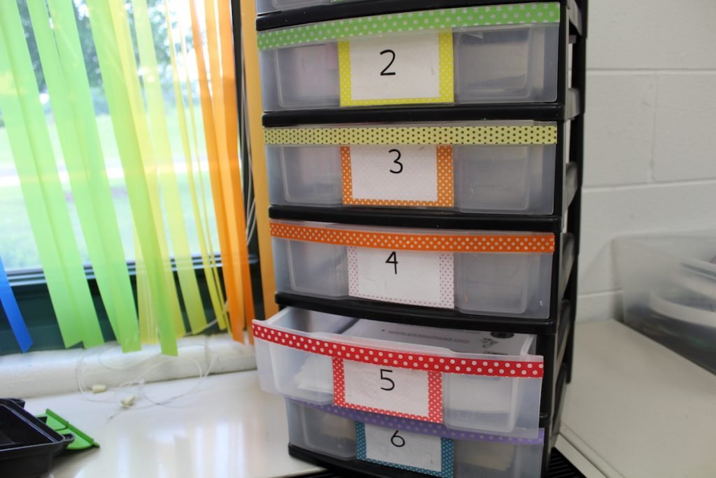 early finisher station drawers