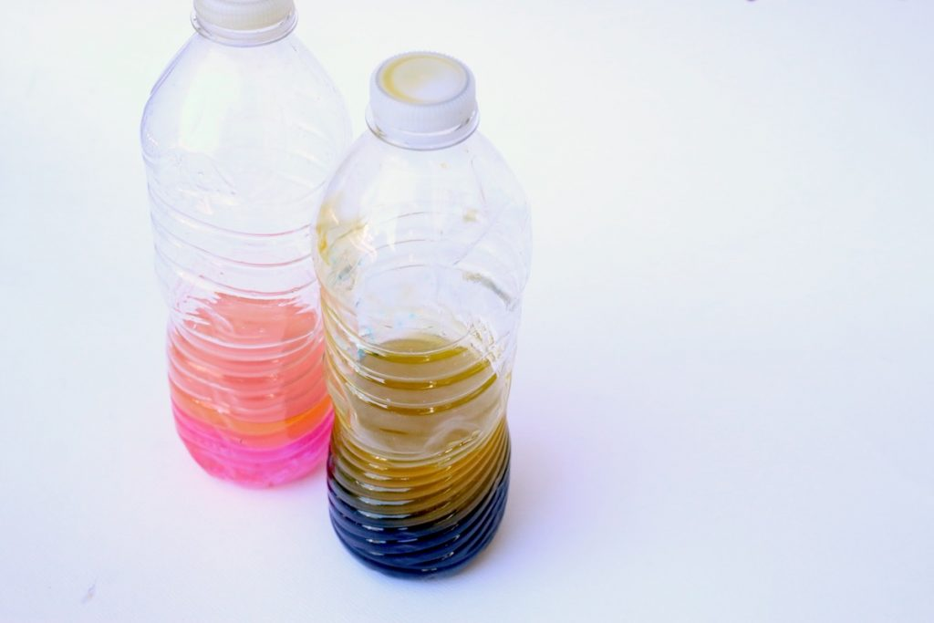 color mixing waterbottles