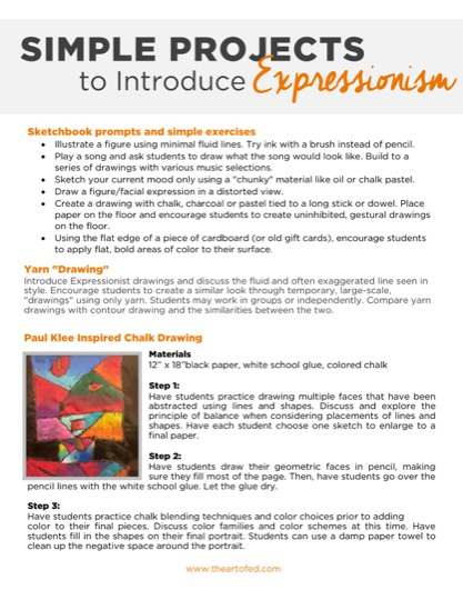 https://uploads.theartofeducation.edu/2017/06/Simple-Expressionist-Projects-1.pdf