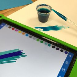 painting and painting on a tablet