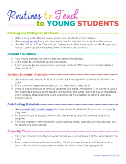https://theartofeducation.edu/content/uploads/2017/10/Routinesforyoungstudents.pdf