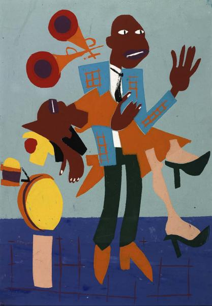 William H. Johnson, Jitterbugs (V), ca. 1941-1942, screenprint on paper, Smithsonian American Art Museum, Gift of Mrs. Douglas E. Younger, 1971.136 Image via Smithsonian American Art Museum