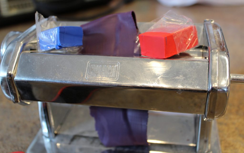 color mixing on pasta machine