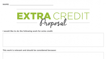 How to Make Extra Credit Your Students' Responsibility