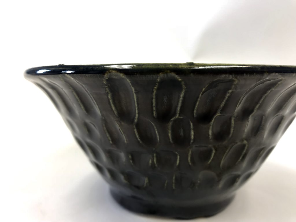 ceramics piece with carved texture
