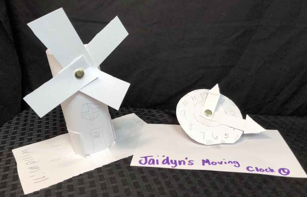 student work of moving sculpture