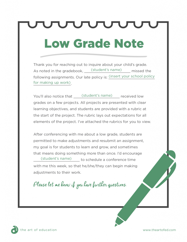 Low Grade Note