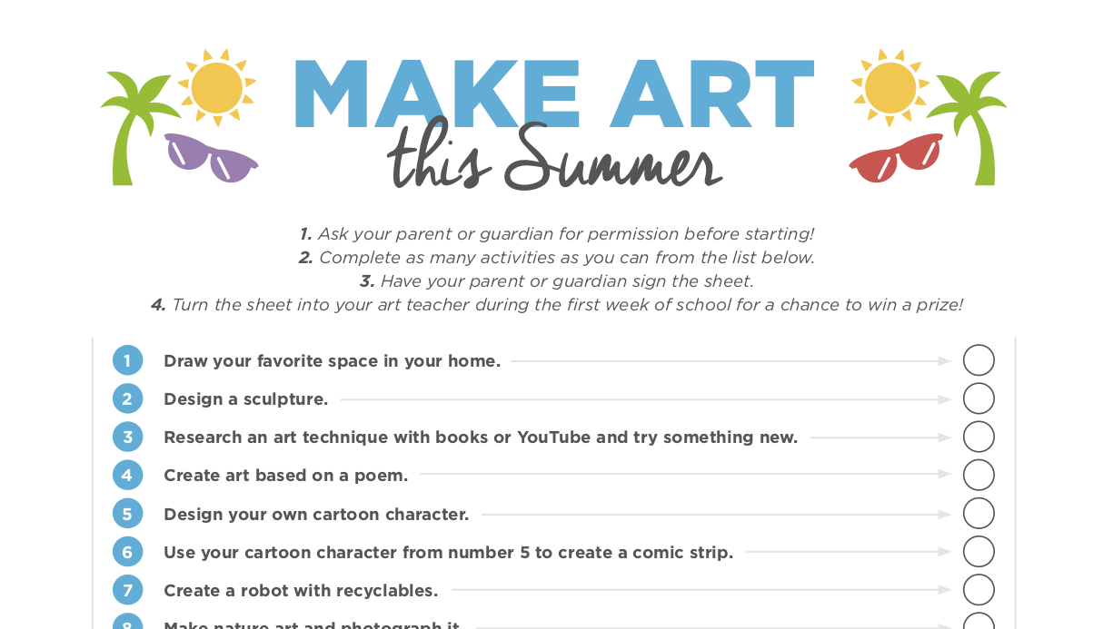 A Summer Supply List And Art Challenge To Empower Your