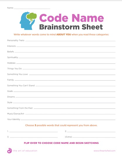https://uploads.theartofeducation.edu/2018/04/26.2CodeNameBrainstormSheet-1.pdf