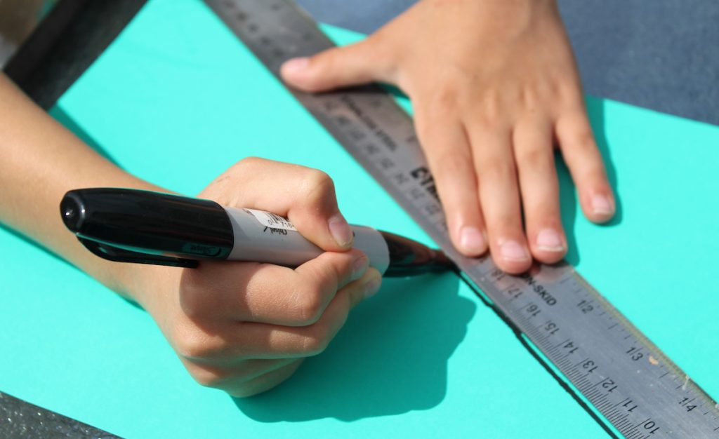 drawing with a ruler