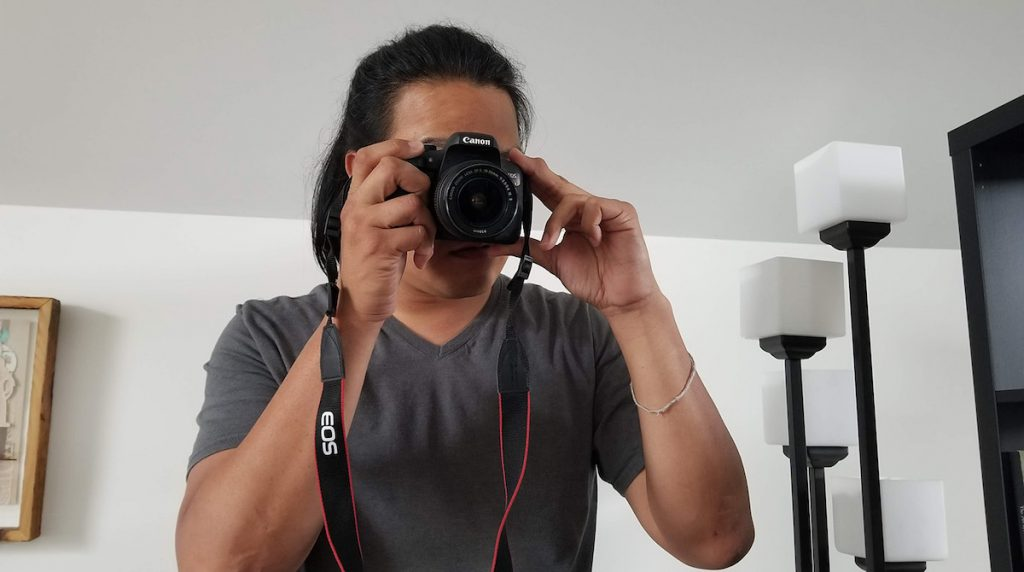 Ray taking a photo
