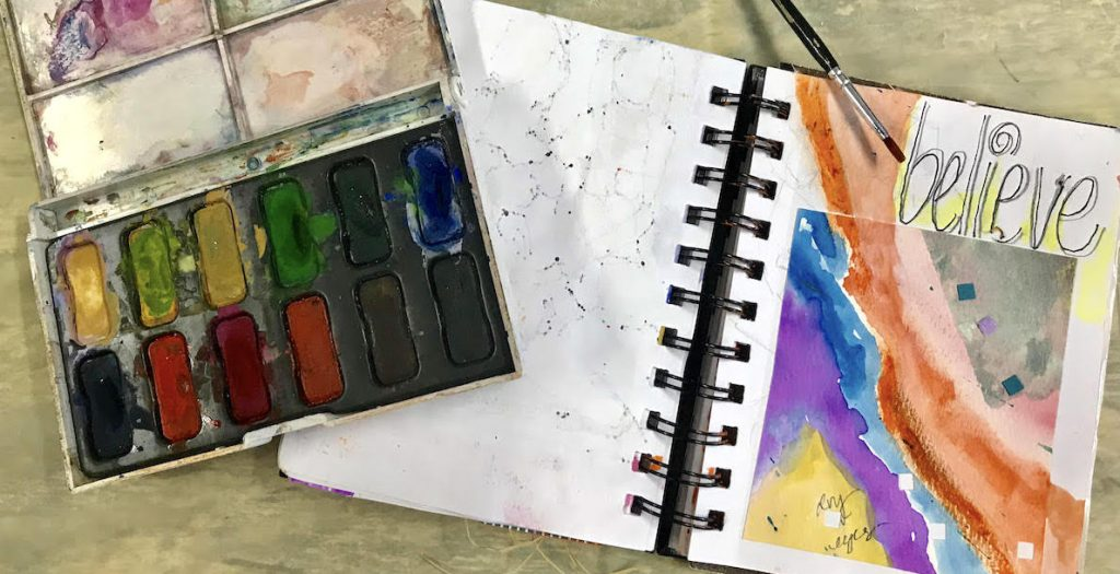 watercolors and visual journal
